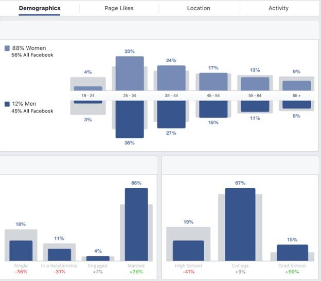 Facebook advertising for small business demographics