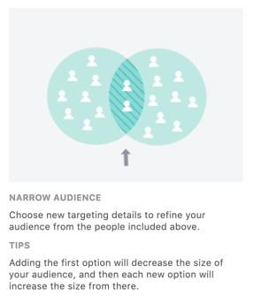 Facebook advertising's narrow audience option