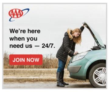 banner ad example from AAA