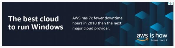 banner ad example from Amazon Web Services