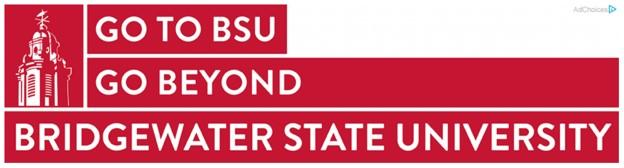 banner ad example from Bridgewater State