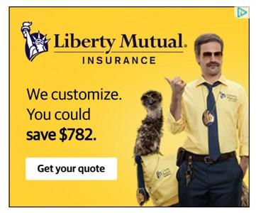 banner ad example from Liberty Mutual