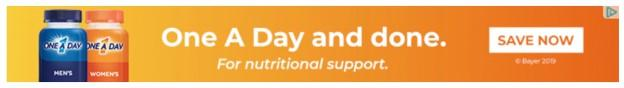 banner ad example from One A Day
