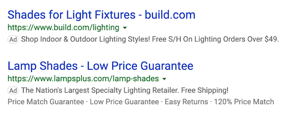how to build an ecommerce site ad examples