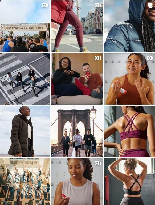lululemon Instagram feed