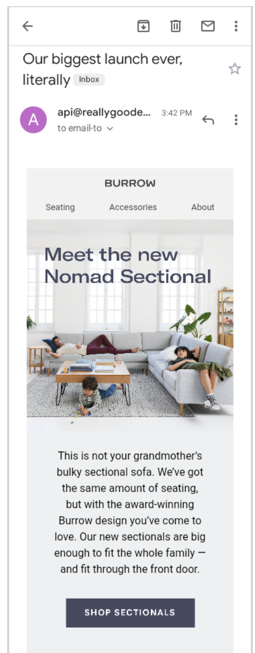 how to promote a new product or service nomad sectional