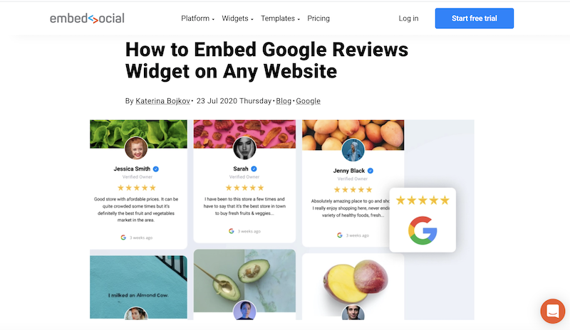 get more google reviews embed reviews on website