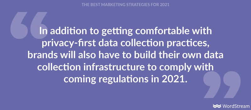best marketing strategies for 2021- privacy-first data collection