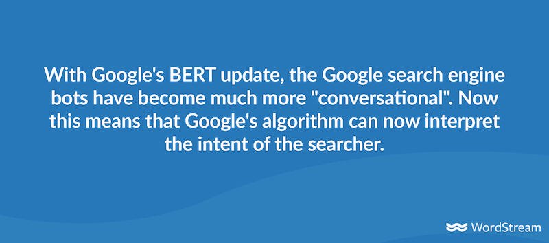 seo trends for 2021 BERT