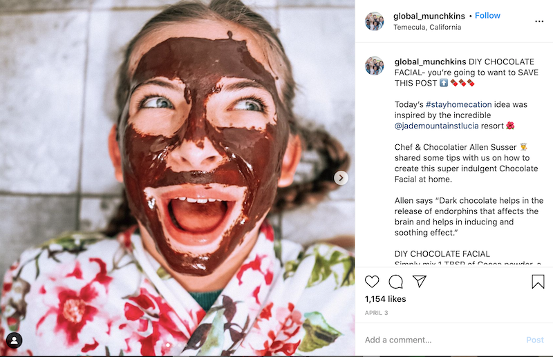 valentine's day marketing ideas chocolate facial