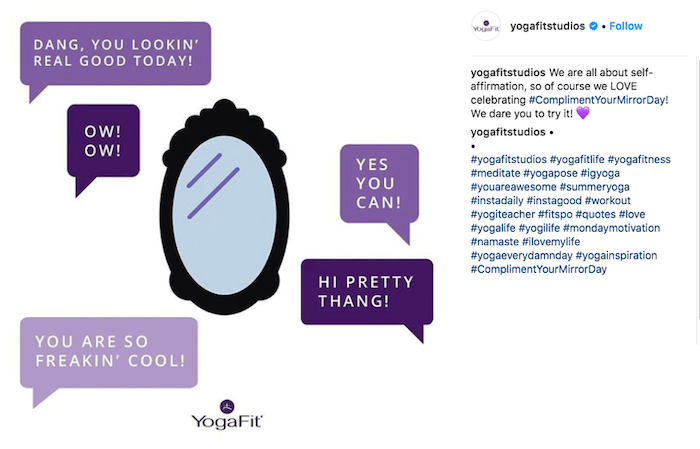 july marketing ideas compliment your mirror day instagram campaign